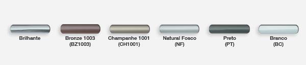 Cores dos Alumínios